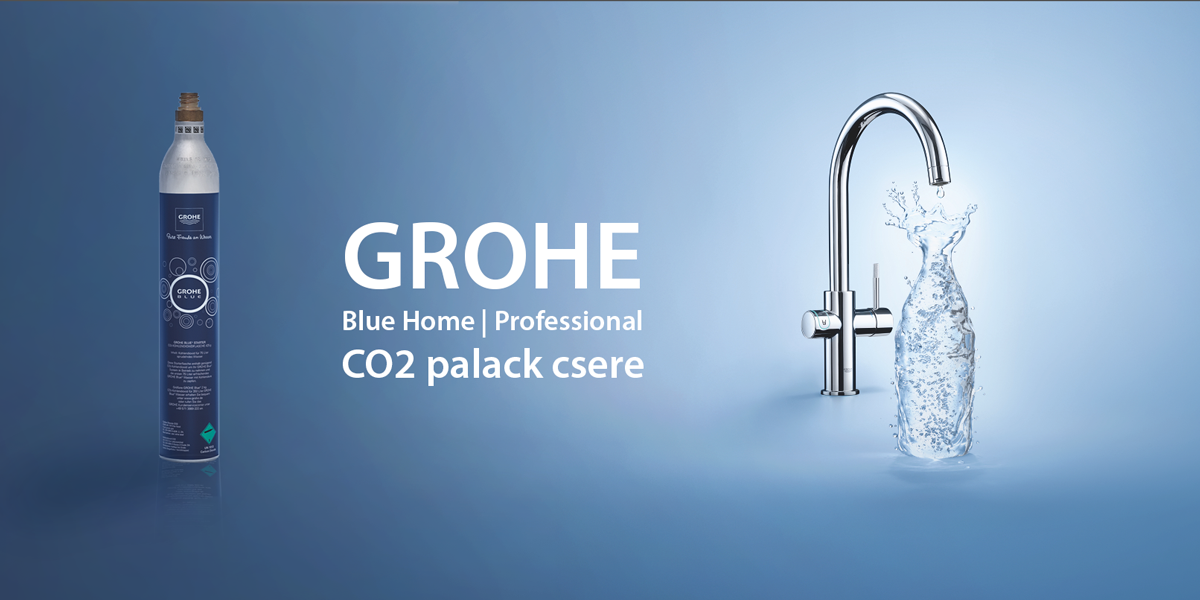 grohe blue home co palack csere toltes